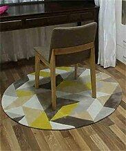 Teppich Europäische Runde Teppich Einfaches Wohnzimmer Schlafzimmer Studie Teppich Computer Stuhl Teppich Lebensmittel ( größe : 1.2m )