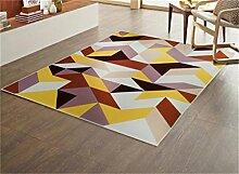 Teppich Europäische Stil Mode Wohnzimmer Schlafzimmer Sofa Couchtisch Bedside Rectangle Anti-Rutsch-Teppich ( farbe : #1 , größe : 120*180cm )