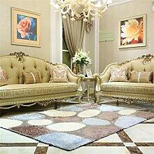 Teppich Europäische Stil Mode Wohnzimmer Schlafzimmer Sofa Couchtisch Bedside Rectangle Anti-Rutsch-Teppich ( farbe : #4 , größe : 100*160cm )