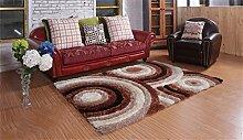 Teppich Europäische Stil Mode Wohnzimmer Schlafzimmer Sofa Couchtisch Bedside Rectangle Anti-Rutsch-Teppich ( farbe : #4 , größe : 71*141cm )