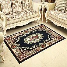 Teppich Europäische Stil Retro Wohnzimmer Schlafzimmer Sofa Couchtisch Bedside Rechteck Teppich ( farbe : # 2 , größe : 48*78cm )