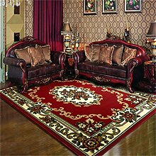 Teppich Europäische Stil Retro Wohnzimmer Schlafzimmer Sofa Couchtisch Bedside Rechteck Teppich ( farbe : #1 , größe : 58*88cm )