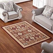 Teppich Europäischen Stil Retro Ländlichen Wohnzimmer Schlafzimmer Sofa Couchtisch Bedside Rechteck Anti-Rutsch-Teppich ( farbe : # 6 , größe : 120*160cm )