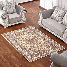 Teppich Europäischen Stil Retro Ländlichen Wohnzimmer Schlafzimmer Sofa Couchtisch Bedside Rechteck Anti-Rutsch-Teppich ( farbe : #3 , größe : 140*200CM )