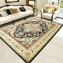 Teppich Europäischen Stil Retro Ländlichen Wohnzimmer Schlafzimmer Sofa Couchtisch Bedside Rectangle Teppich ( farbe : # 2 , größe : 0.8*1.25m )