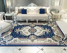 Teppich / europäischen Stil Wohnzimmer Sofa großen Teppich / Schlafzimmer Nacht Decke / home dicken Kaffee Matten ( Farbe : Blau , größe : 133*190cm )