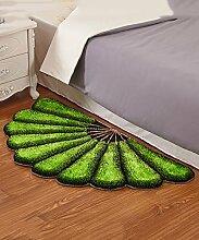Teppich European Simplicity Thicker Teppich Modern Sofa Couchtisch Sektor Teppich Kreativ Anti-Rutsch Türmatten Wohnzimmer Halle Schlafzimmer Teppich Lebensmittel ( Farbe : F , größe : 70*140CM )