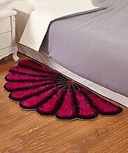 Teppich European Simplicity Thicker Teppich Modern Sofa Couchtisch Sektor Teppich Kreativ Anti-Rutsch Türmatten Wohnzimmer Halle Schlafzimmer Teppich Lebensmittel ( Farbe : H , größe : 70*140CM )