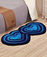 Teppich European Style Heart-shaped Thicker Teppich Einfache Sofa Couchtisch Teppich Kreative Anti-Rutsch Türmatten Wohnzimmer Hall Schlafzimmer Teppich Lebensmittel ( Farbe : G , größe : 70*140CM )