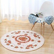 Teppich Fashion Round Teppich Wohnzimmer Decke Sofa Couchtisch Teppich Nachttuch Kinderzimmer Teppich ( Farbe : Pink , größe : 120*120cm )