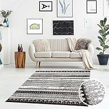 Teppich Flachflor Kurzflor Läufer Modern liniert