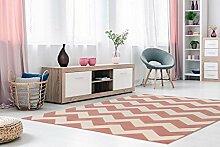 Teppich Flachflor mit Konturenschnitt und