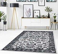 Teppich Flachflor mit Mäander-Muster,