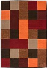 Teppich Flachflor mit Modernen Design, Karo-Muster