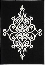 Teppich Flachflor mit Ornamenten in Tribal-Optik,