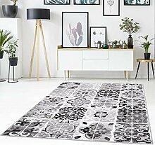 Teppich Flachflor mit Patchwork-Muster,