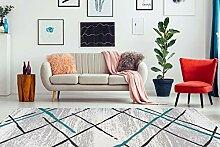 Teppich Flachflor modern mit Juterücken und