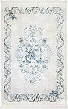 Teppich Flachflor Polyester Waschbar Klassisch