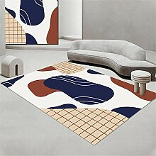Teppich Flur Teppich Blauweißbraun Einfache