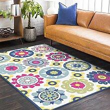 Teppich flurteppich rutschfest Blauer gelber roter