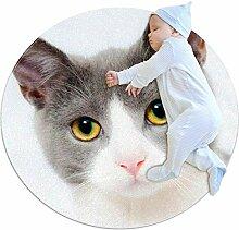 Teppich für Katzen und Haustiere, rund, 70 cm