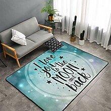Teppich für Kinder Spielzimmer Warm Soft Love You