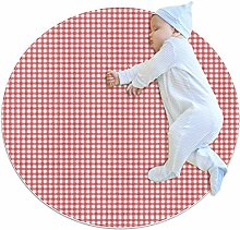 Teppich für Kinderzimmer, Spielzimmer, 70 cm, Rot