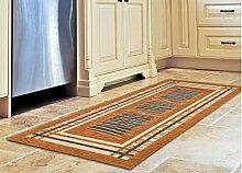 Teppich für Küche mit Rückseite rutschfest Typ Graffiti 55x190 cm Arancio