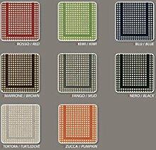 Teppich für Küche rutschfeste Typ Pied de Poule 55x190 cm Kiwi