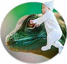 Teppich für Reptilien, Eidechse, gelbe Augen,