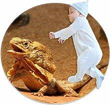 Teppich für Reptilien, Eidechsen, Wüste, rund,