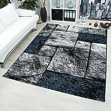 Teppich für Wohnzimmer modern design Teppiche mit 3D Effekte _1704 Türkis, Maße:120x170 cm