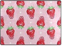 Teppich Fußmatten Obst rosa Erdbeere Bodenmatte