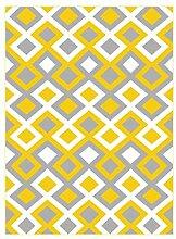 Teppich Geometrische Teppiche, Wohnzimmer Sofa Couchtisch Moderner Schlafzimmer Gitter Teppich ( Farbe : B , größe : 120*160cm )