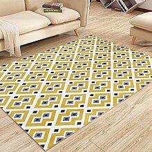 Teppich Geometrischer Teppich, Dicker Teppich Schlafzimmer Bedside Mat Rectangle Home Use ( Farbe : F , größe : 160*230cm )