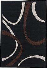 Teppich gewebt schwarz Größe 160x230 cm