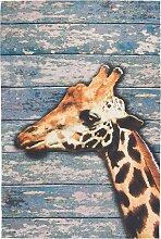 Teppich Giraffe, blau (120/180 cm)