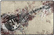 Teppich Gitarre Musik Note Instrument für Zuhause