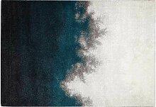 Teppich grau und blau modern aus Polypropylen