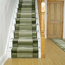 Teppich Gravesham für Treppen in Grün