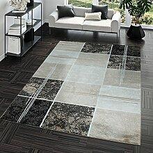 Teppich Günstig Karo Design Modern Wohnzimmerteppich Braun Beige Creme Top Preis, Größe:120x170 cm
