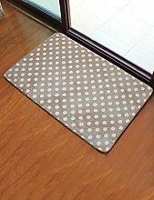 Teppich Halle Wasseraufnahme Schlafzimmer Küche Balkon Bad Anti-Rutsch (Größe: 40 * 60cm) ( Farbe : A , größe : 40*60cm )