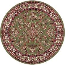 Teppich Halton, DELAVITA, rund, Höhe 8 mm grün