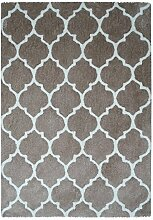 Teppich Handgefertigt Baumwolle Teppich Smooth 250 Taupe 120cm x 170cm 120cm x 170cm