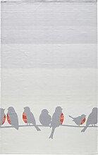 Teppich Hanna, grau (90/160 cm)