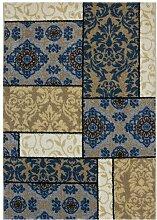 Teppich Harty in Blau 17 Stories