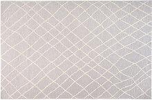 Teppich Hellgrau Polypropylen 160x230 cm FLOW