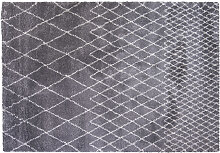 Teppich Hellgrau Polypropylen 160x230cm LATTICE