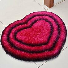 Teppich Herzförmiger Teppich Schlafzimmer Wohnzimmer Zimmer Teppich Couchtisch Modern Einfach ( Farbe : B , größe : 70*80cm )