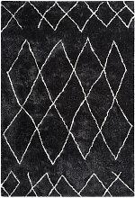 Teppich Hochflor Kuschelig Weich Berber Rauten